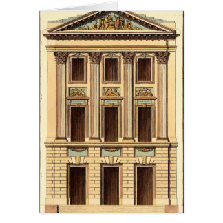 Architectural Facade by Jean Deneufforge Card