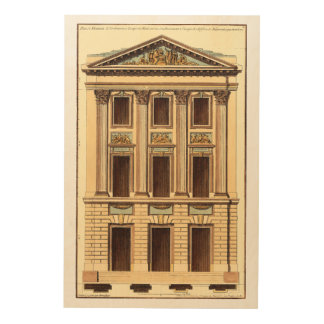 Architectural Facade by Jean Deneufforge Wood Wall Art