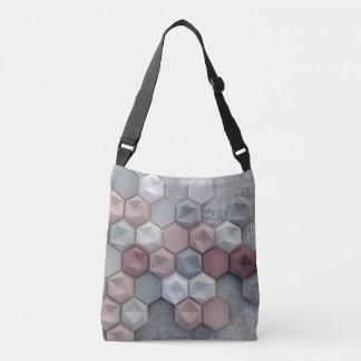 Architectural Hexagons  Cross Body Bag