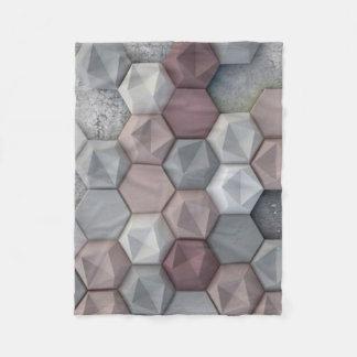 """Architectural Hexagons Fleece Blanket, 30""""x40"""""""