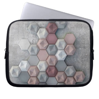 Architectural Hexagons Laptop Sleeve 10 inch
