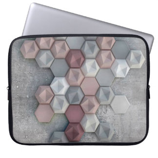 Architectural Hexagons Laptop Sleeve 15 inch