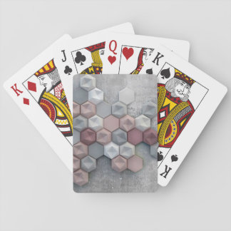Architectural Hexagons Playing Cards