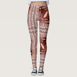 Architectural Insanity Pink Geometric Leggings