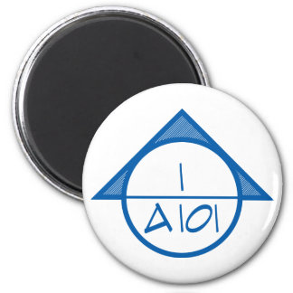Architectural Reference Symbol Magnet (blue)