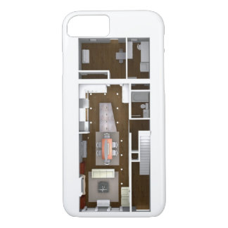 Architectural Rendered Floor Plan iPhone 7 Case