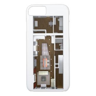 Architectural Rendered Floor Plan iPhone 7 Case