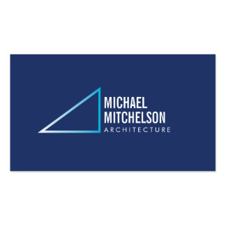 Architectural Right Angle White/Blue Professional Pack Of Standard Business Cards