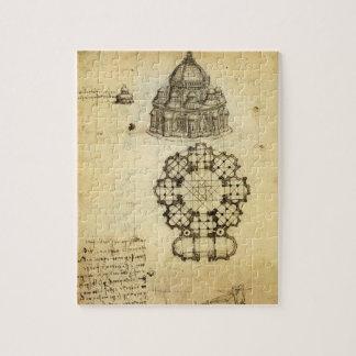 Architectural Sketch by Leonardo da Vinci Jigsaw Puzzle
