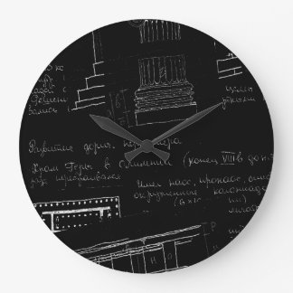 Architectural sketch large clock