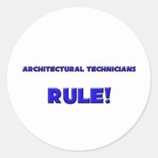 Architectural Technicians Rule! Stickers