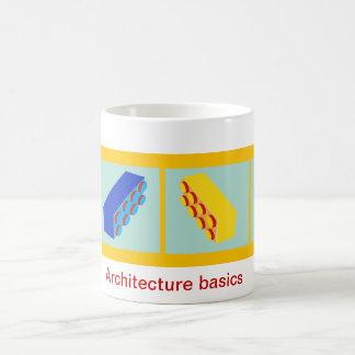 'Architecture basics' building toy blocks Mug