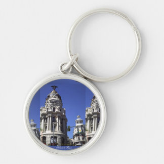 Architecture, Blue Skies, Buildings, Churches Silver-Colored Round Key Ring