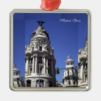 Architecture, Blues Skies,  Buildings, Churches Silver-Colored Square Decoration