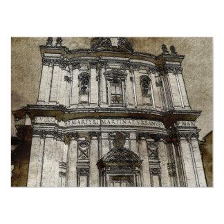 Architecture drawing 17 cm x 22 cm invitation card