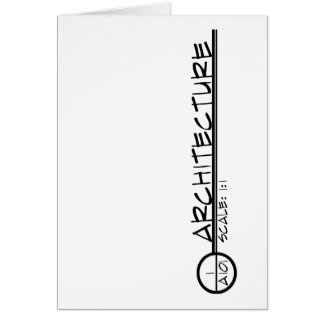 Architecture Drawing Title Greeting Card (dark)