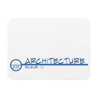 Architecture Drawing Title Magnet (blue)