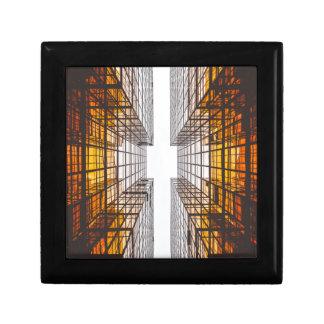 architecture facade buildings windows small square gift box
