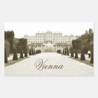 Architecture in Vienna, Austria Rectangular Sticker