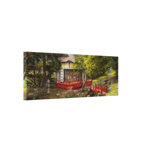 Architecture - Japan - Tranquil moments Stretched Canvas Print