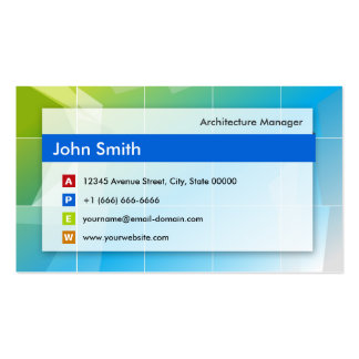 Architecture Manager - Modern Multipurpose Business Card Template