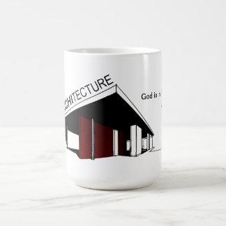 Architecture: Mies van der Rohe Basic White Mug
