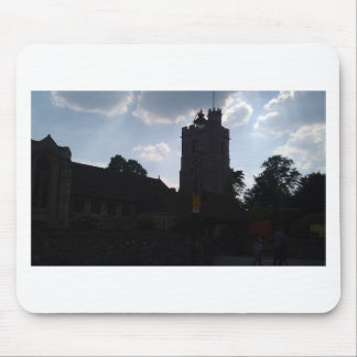 Architecture of building in Scotland at sunset Mousepads