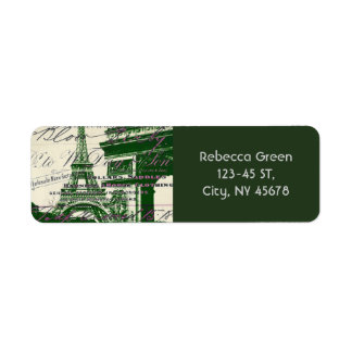 architecture victory gate paris eiffel tower return address label