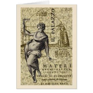 Architecture woman statue Il Palazzo Card