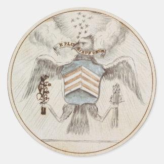 Archive Presidential Seal Sketch Round Sticker