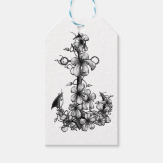 Archor & flowers gift tags