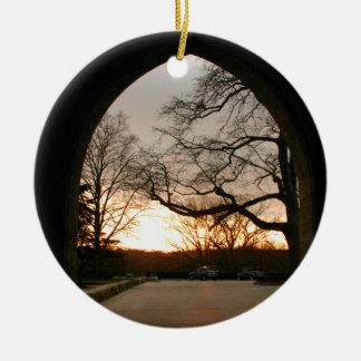 Archway Sunset Round Ceramic Decoration