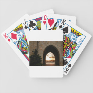 Archway Sunset With Bush Poker Deck