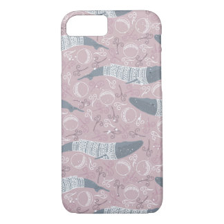 Arctic Animals in Space Pattern iPhone 7 Case