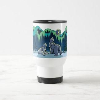 Arctic Art Bear Travel Mug Polar Bear Cup