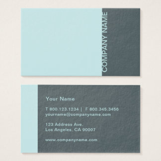 Arctic Blue Modern Business Card