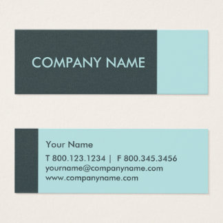 Arctic Blue Modern Mini Business Card