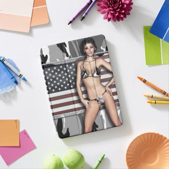 Arctic Camo Bikini Babe iPad Pro Cover