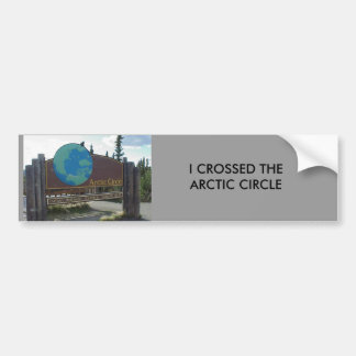 arctic circle, I CROSSED THEARCTIC CIRCLE Bumper Sticker