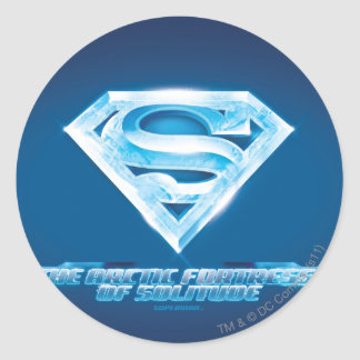 Arctic Fortress of Solitude Classic Round Sticker