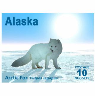 Arctic Fox - Alaska Postage Photo Sculpture Magnet