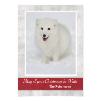 Arctic Fox Christmas Card 13 Cm X 18 Cm Invitation Card