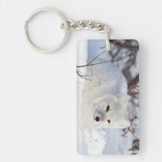 Arctic Fox in winter Key Ring