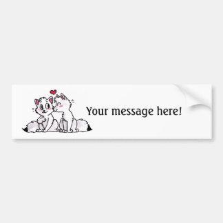 Arctic Fox Kiss Bumper Sticker