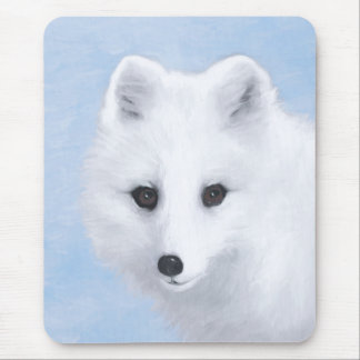 Arctic Fox Mouse Pad