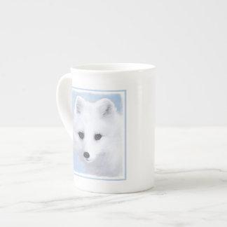 Arctic Fox Painting - Original Wildlife Art Tea Cup