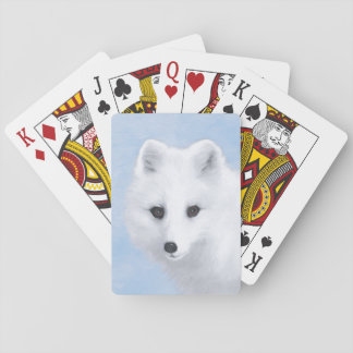Arctic Fox Playing Cards