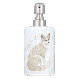 Arctic Fox Retro Chic Bath Decor Add Your Name Toothbrush Holder