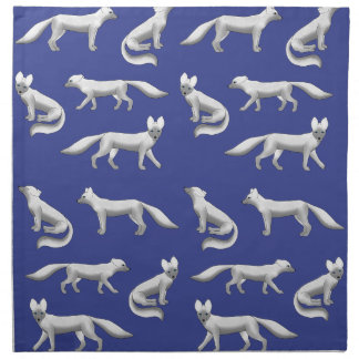 Arctic fox selection napkin