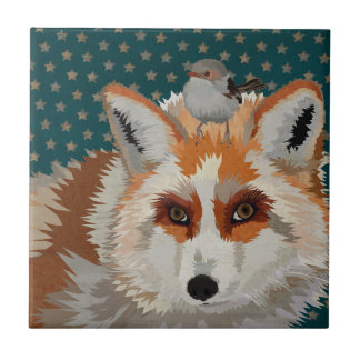 ARCTIC FOX & WREN Tile